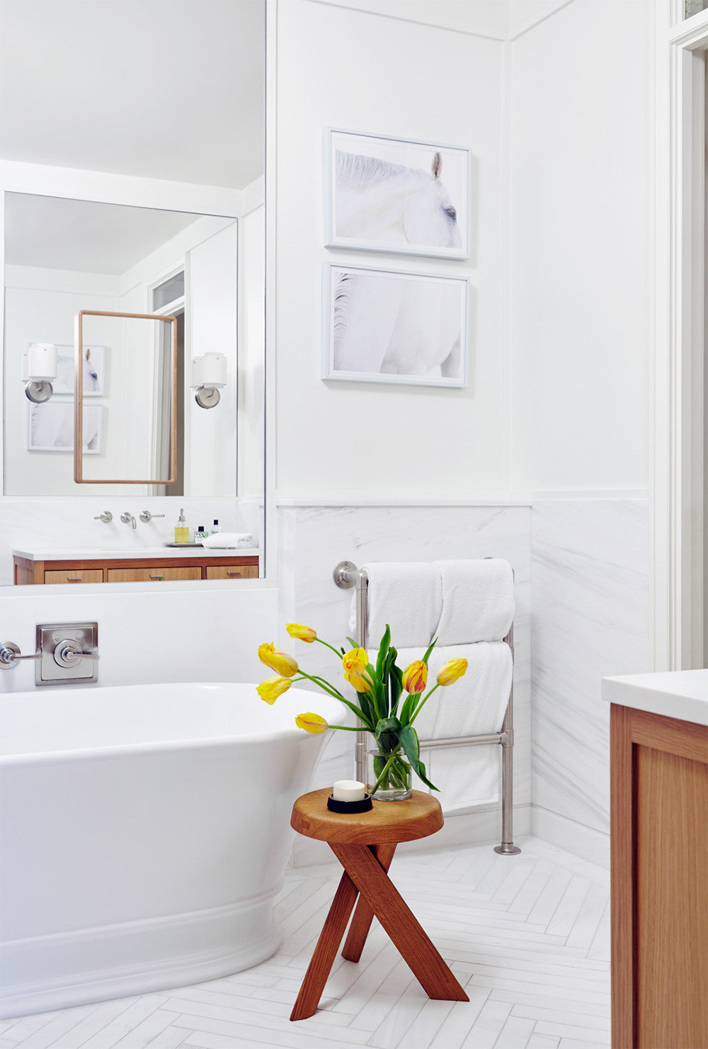 So fresh and so clean.    Interior Design by Consort. Photo: Reid Rolls