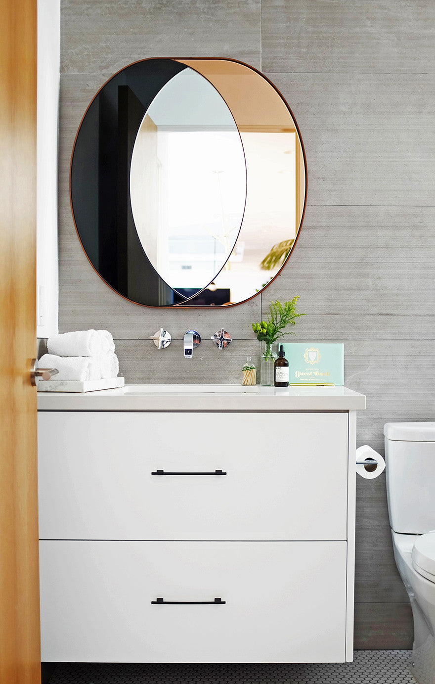 Take a look in the mirror.Interior Design by Consort. Photo: Mat Sanders
