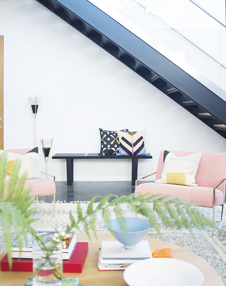 Everyone needs a pink chair, or two.Interior Design by Consort. Photo: Mat Sanders