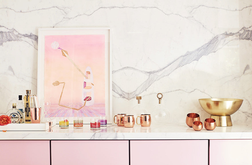 Pink makes everything look pretty.Interior Design by Consort. Photo: Joe Schmelzer