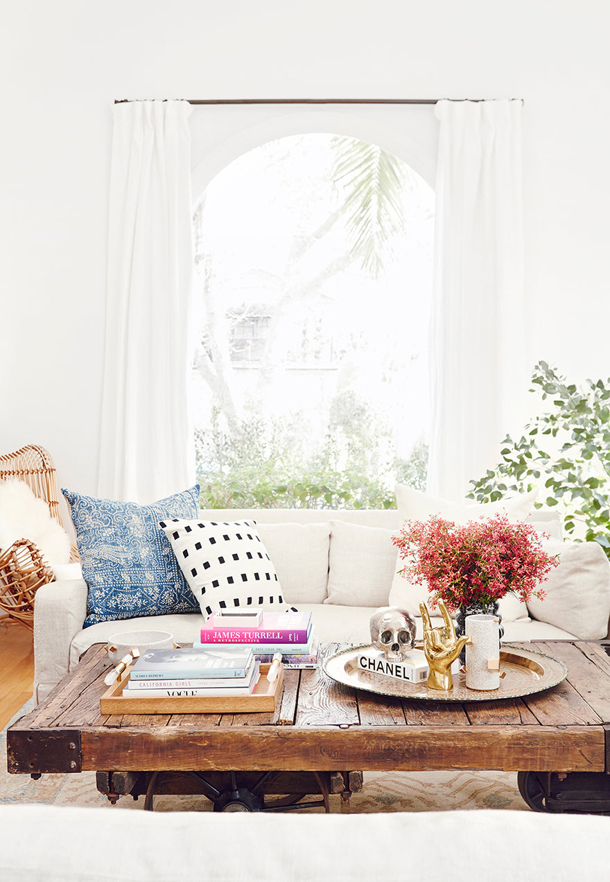 Nina Dobrev's Rustic Coffee Table