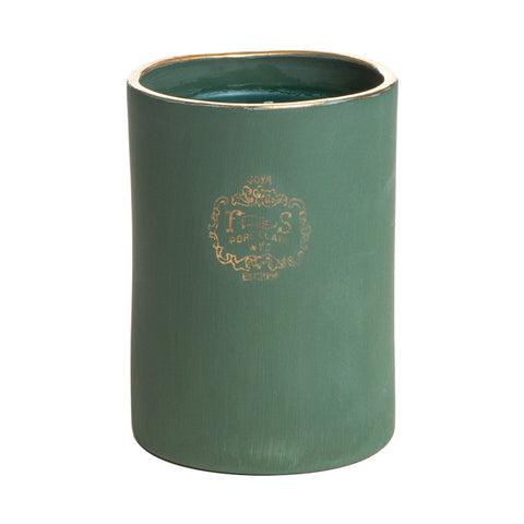 Signature Foxglove Gold Rim Porcelain Candle by Joya Studio