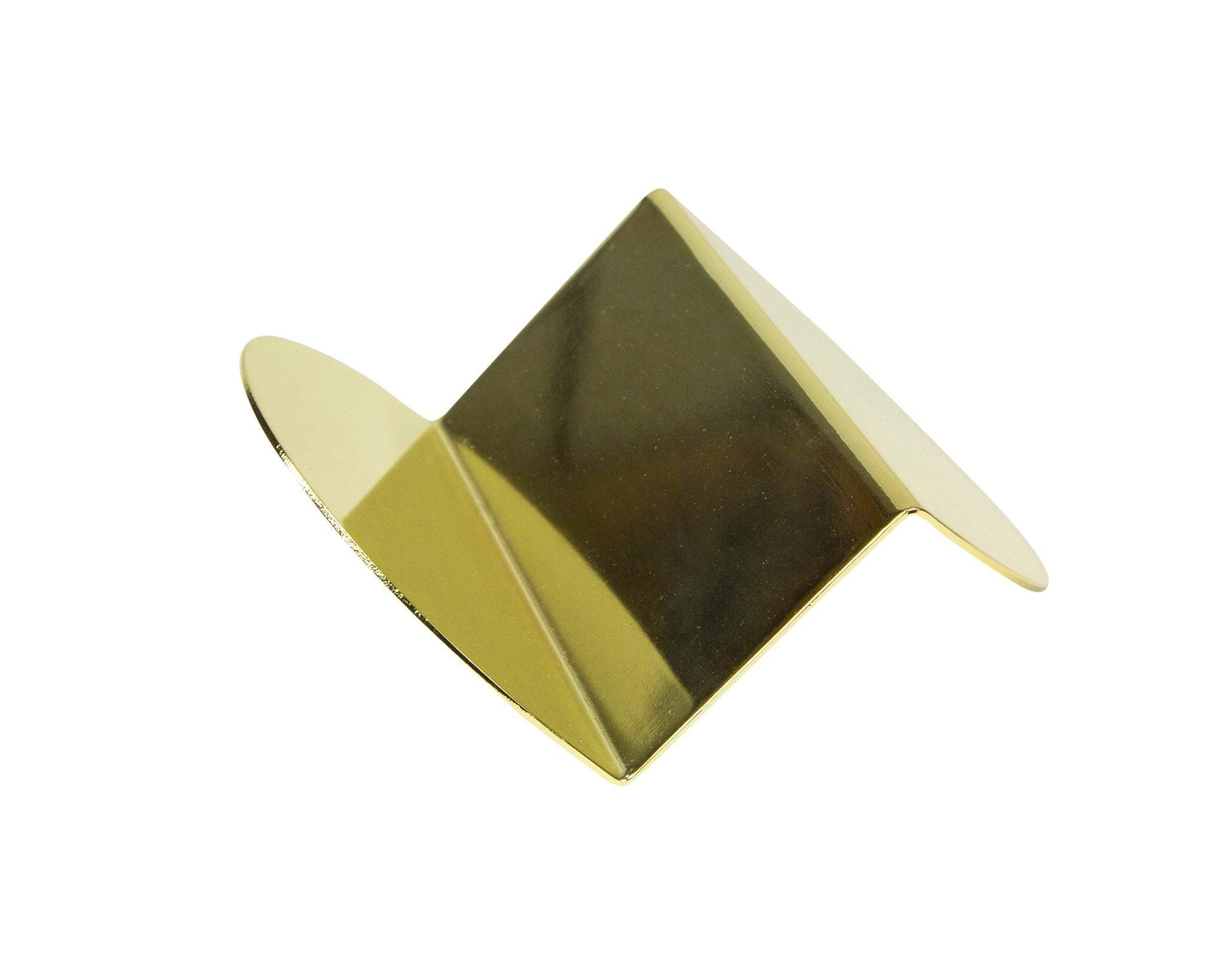 Wave business card holder in brass accessories decorative object wave business card holder in brass reheart Choice Image