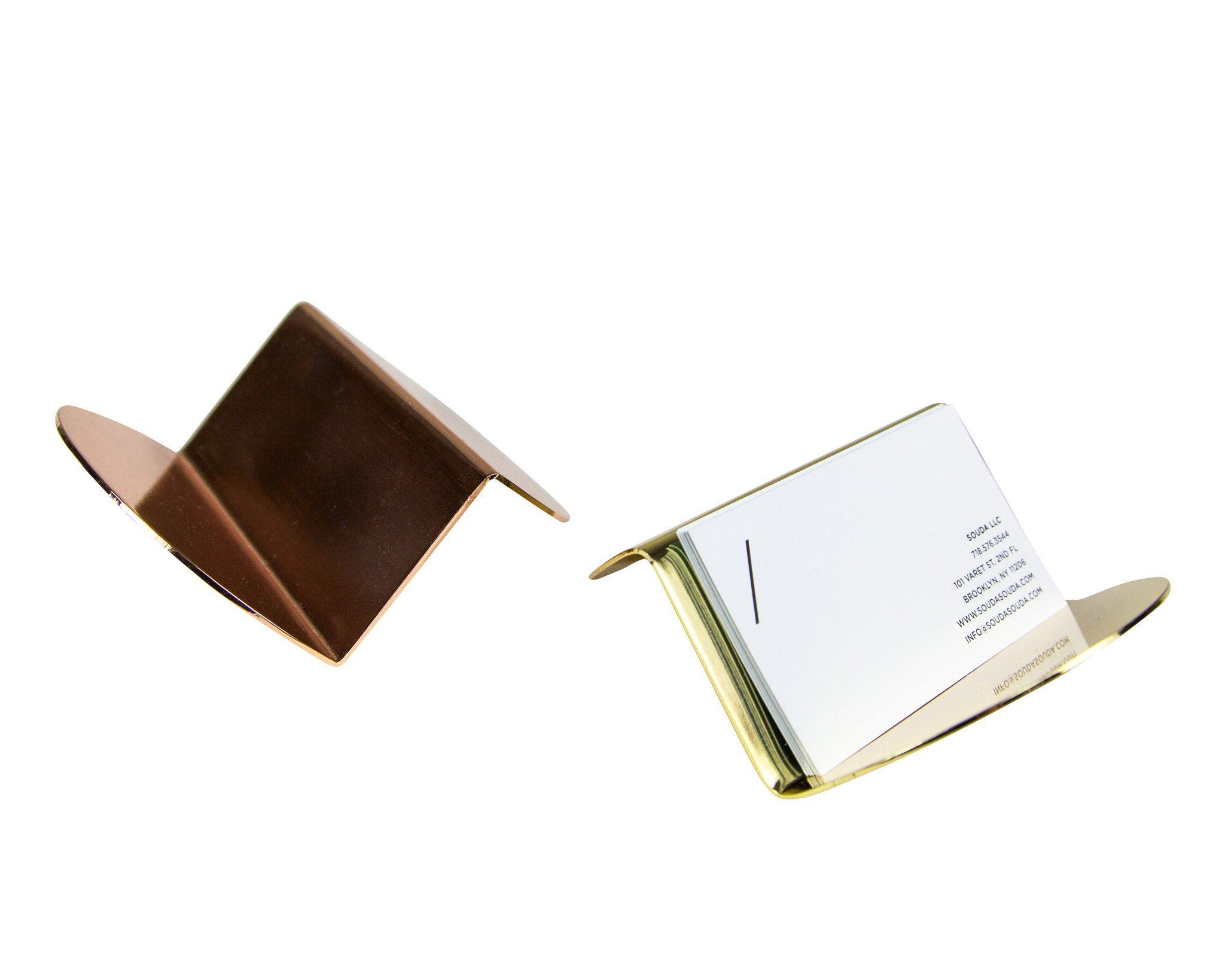 Wave business card holder in brass accessories decorative object wave business card holder in brass colourmoves