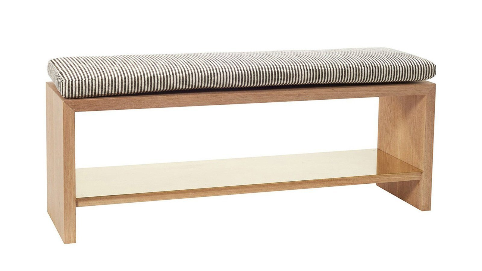 ... Occasional Seating U003e Bench   Freddie Bench With Brass Shelf By Consort  ...