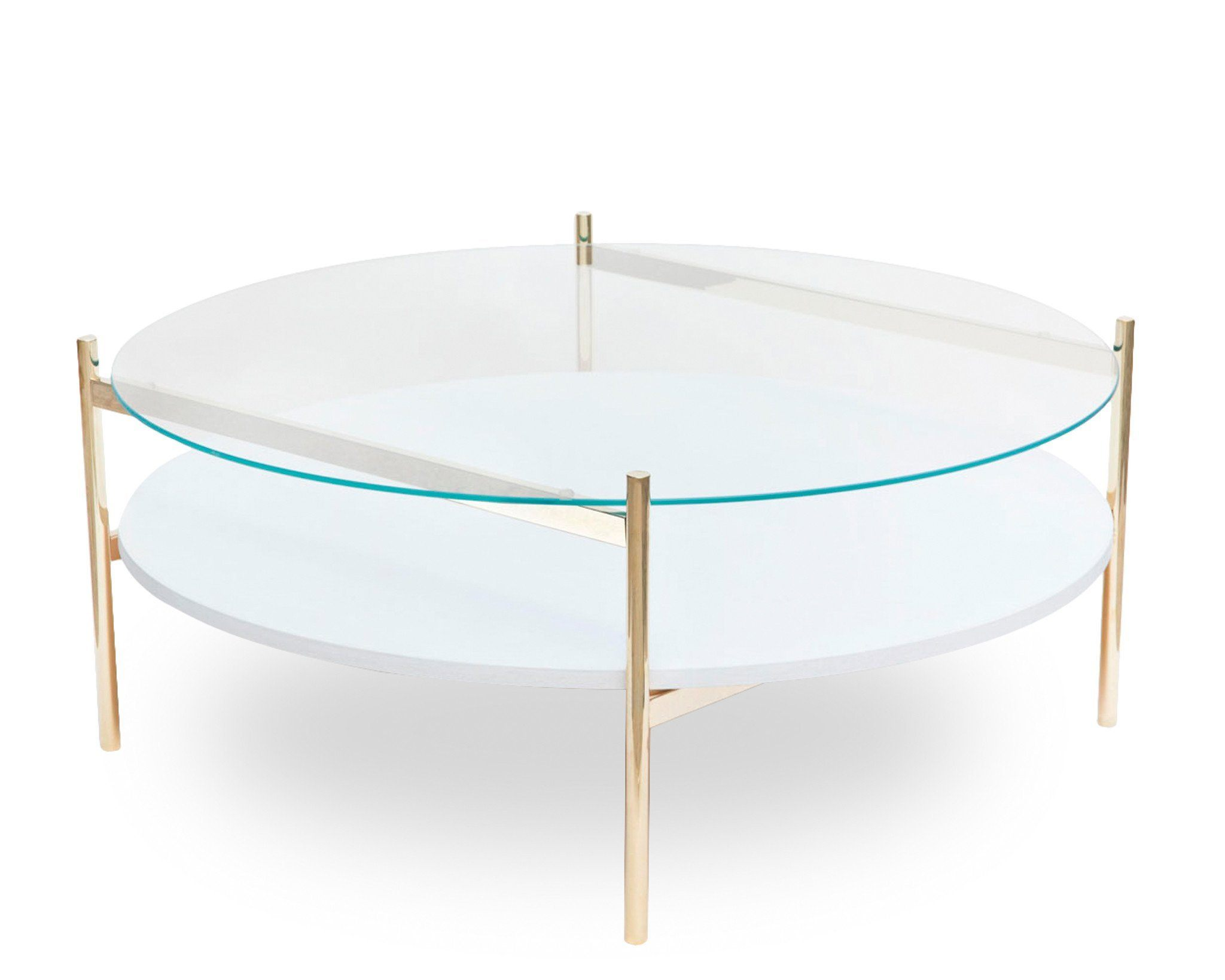 ... Tables U003e Coffee Table Round   Duotone Circular Coffee Table ...