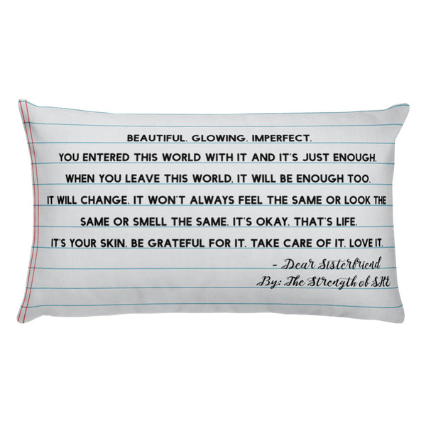 """The Skin You're In"" Pillow"