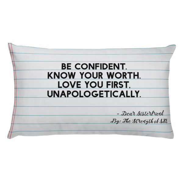 """Know Your Worth"" Pillow"