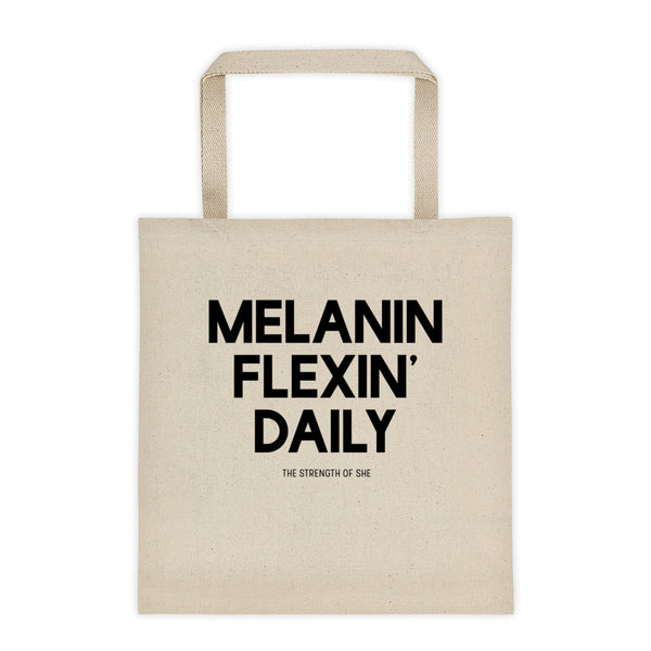 Melanin Flexin Daily Tote bag