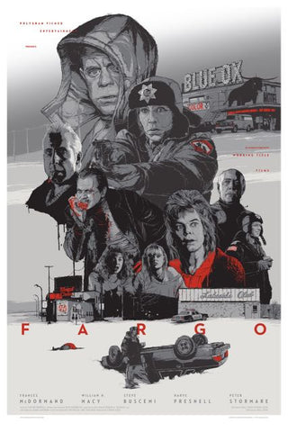 "FARGO (Variant - Glow in the Dark) by GABZ 8/21/2013 - 24""x36"""