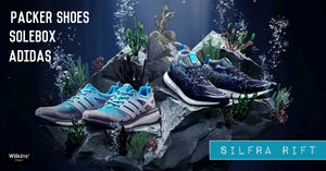 "คอลเลกชันใหม่ PACKER SHOES X SOLEBOX X ADIDAS CONSORTIUM ""SILFRA RIFT"""