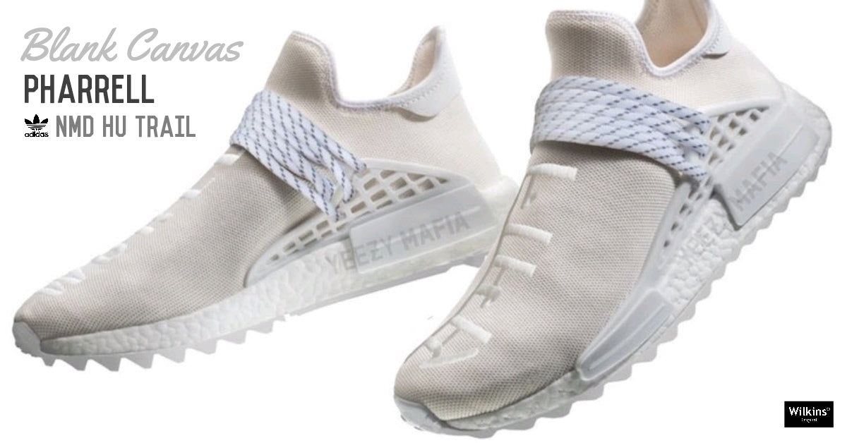 แฟนๆ มาดู PHARRELL X ADIDAS NMD HU TRAIL BLANK CANVAS