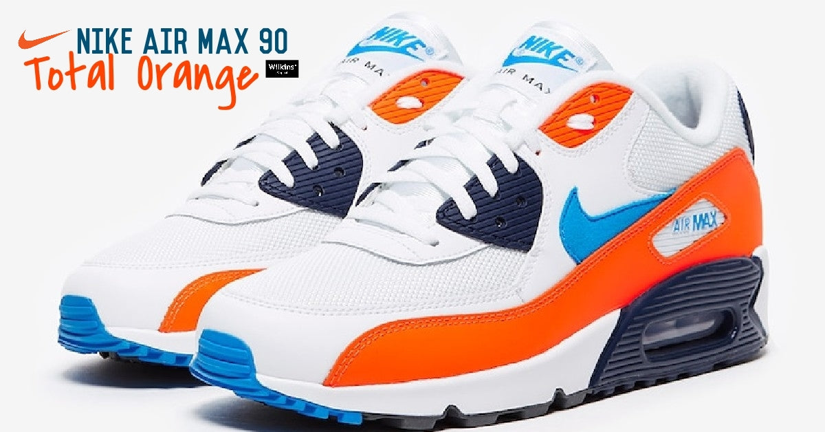 สีใหม่ NIKE AIR MAX 90 TOTAL ORANGE / PHOTO BLUE
