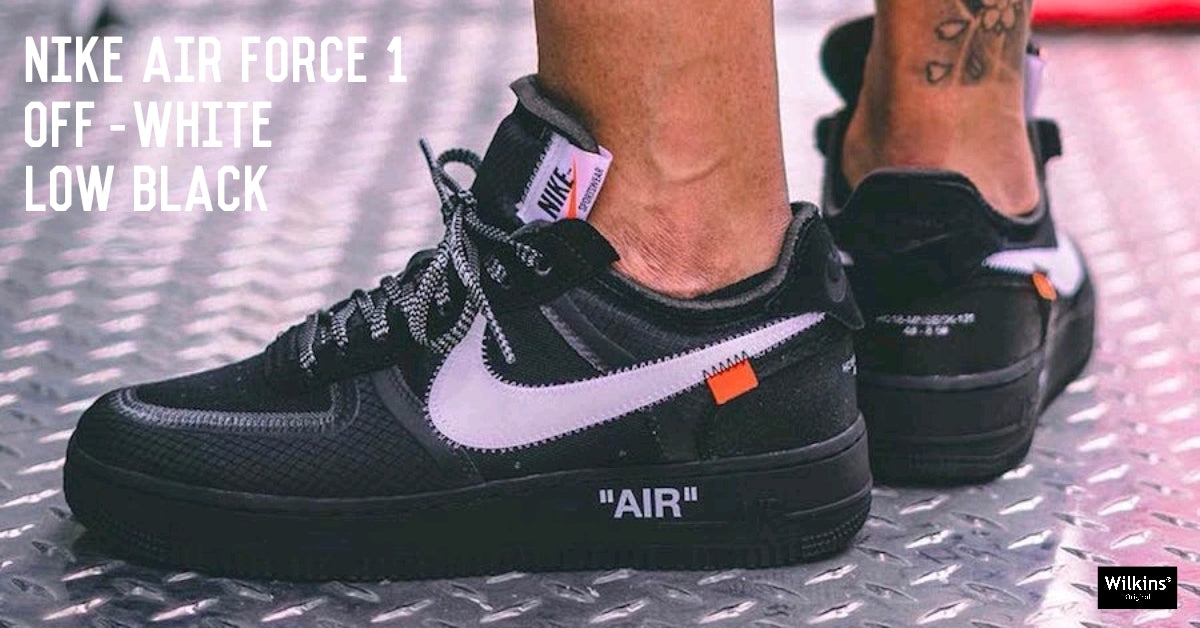 OFF-WHITE X NIKE ปล่อย AIR FORCE 1 LOW BLACK