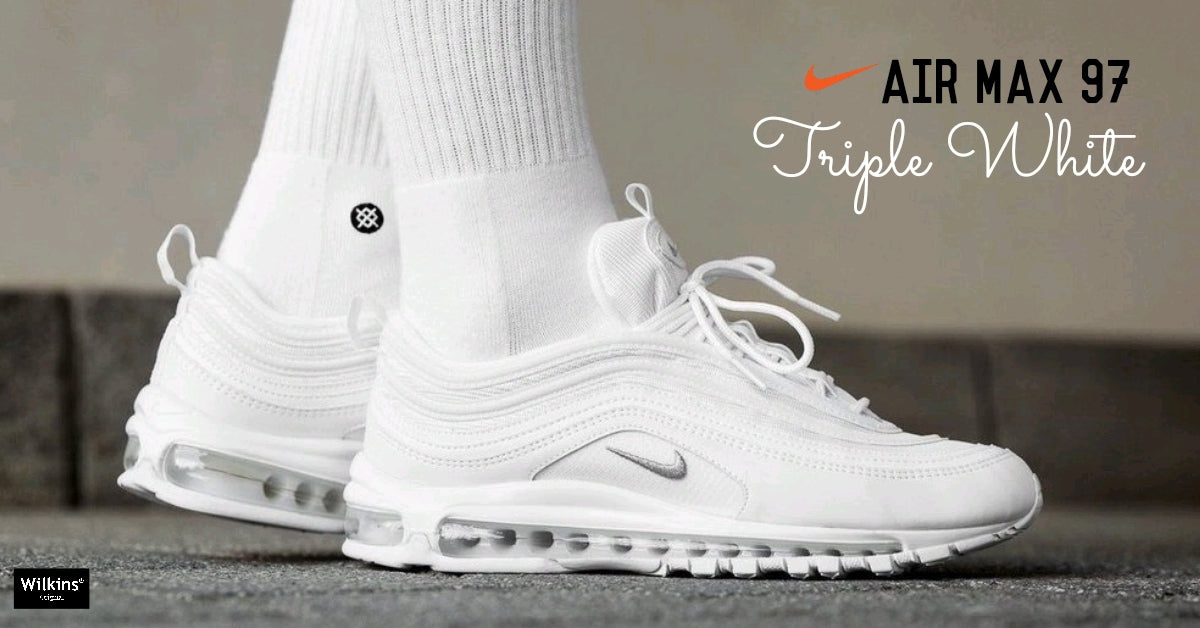 "NIKE ปล่อย AIR MAX 97 ""TRIPLE WHITE"" Wilkins Original"