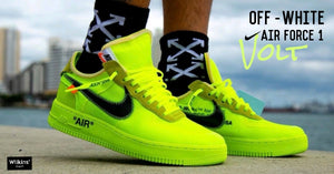"OFF-WHITE X NIKE ปล่อย AIR FORCE 1 LOW ""VOLT"""