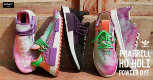 "PHARRELL x ADIDAS ORIGINALS เผยโฉม HU HOLI ""POWDER DYE"""