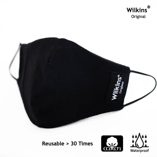 Wilkins Waterproof Cotton Face Mask (1 แพ็คมี 3 ชิ้น)