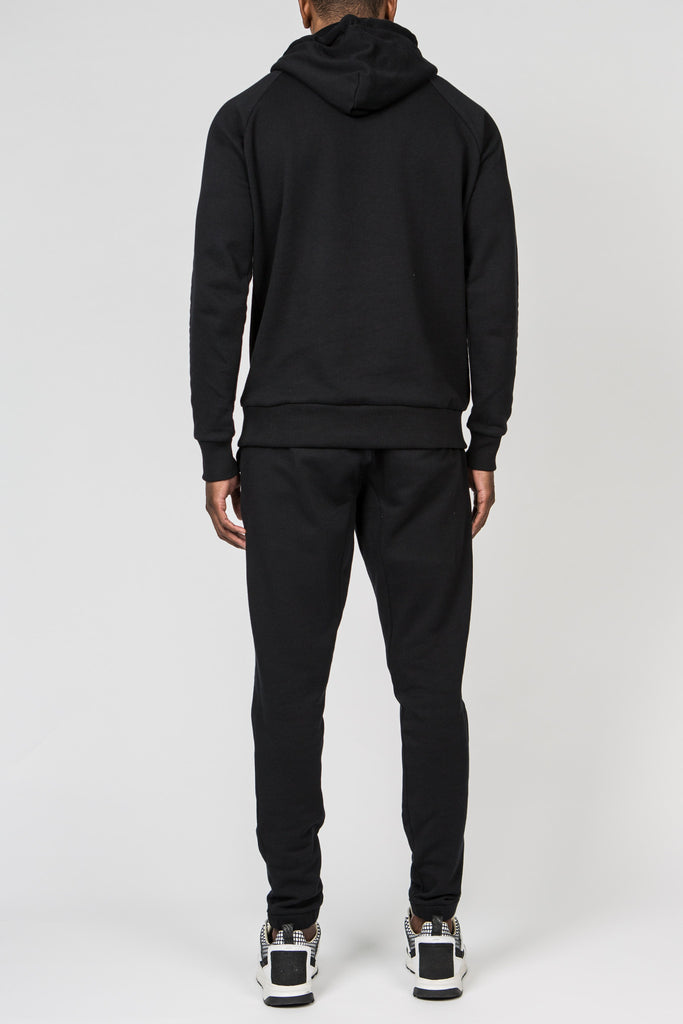 Chenille Irongate Tracksuit - Black/Red
