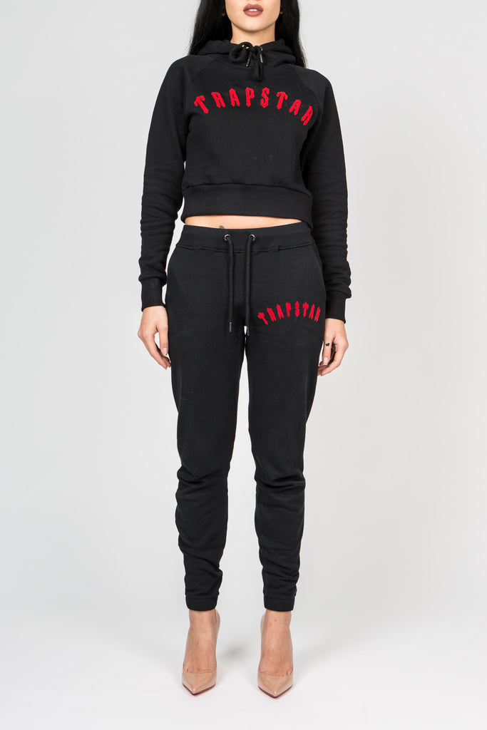 Womens Chenille Irongate Tracksuit - Black/Red