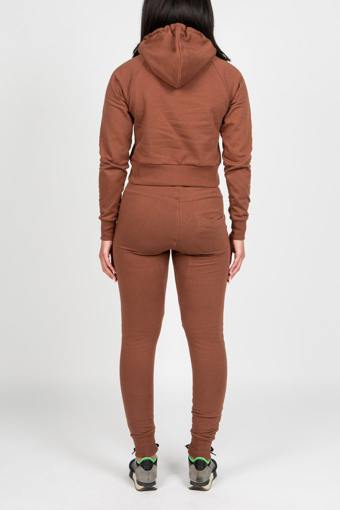 Womens Chenille Irongate Tracksuit - Chocolate