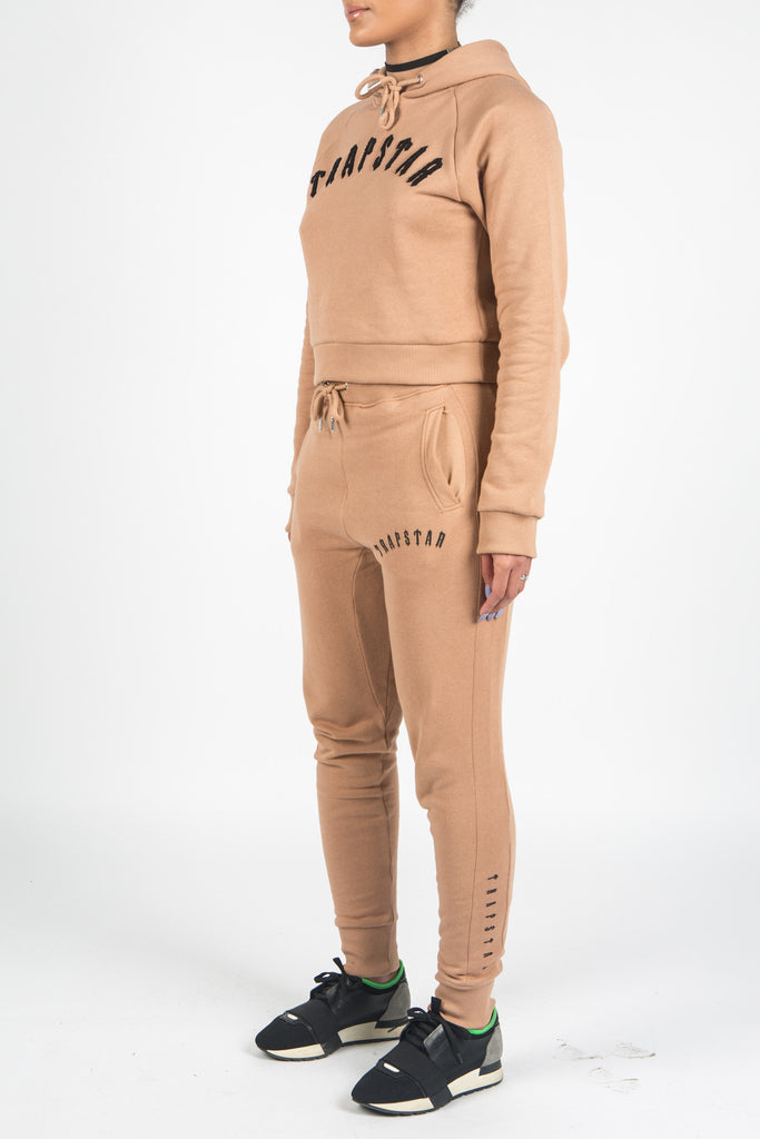 Womens Chenille Tracksuit - camel/black