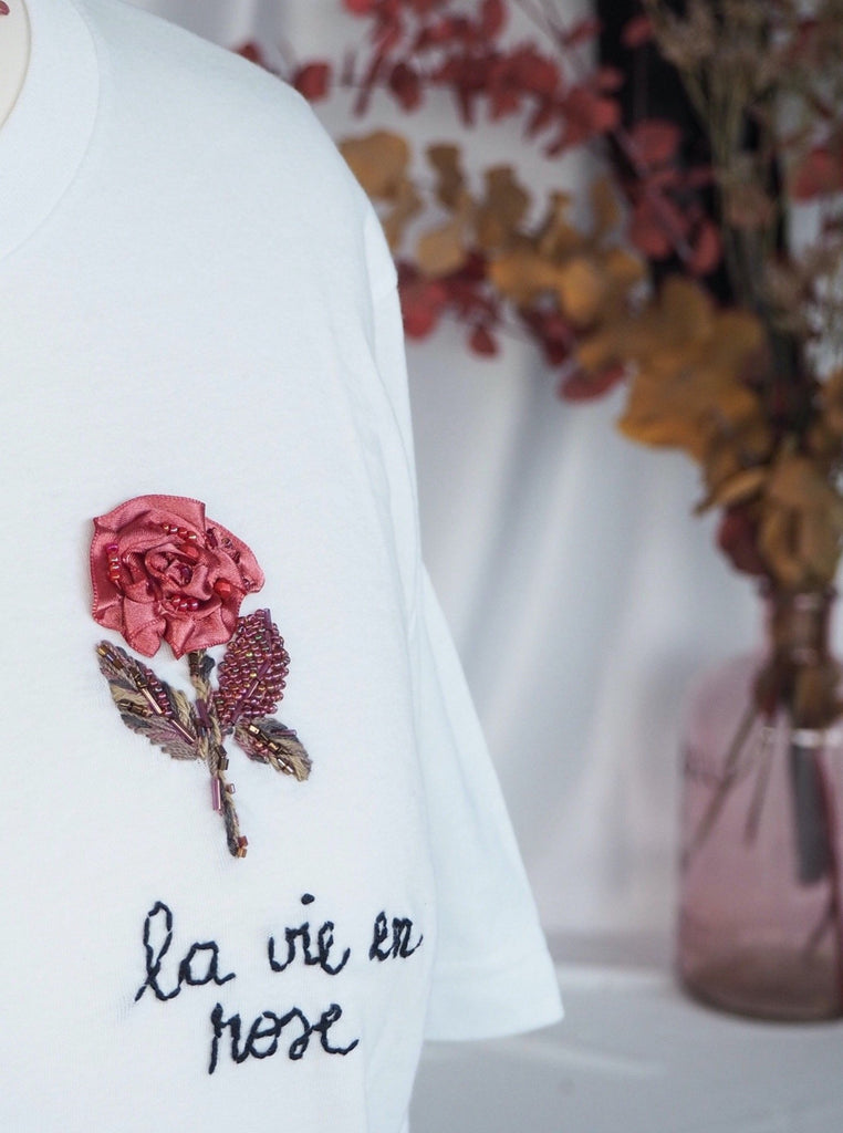Basic LA VIE EN ROSE Tshirt
