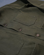 The Franklin Jacket in Olive Denim