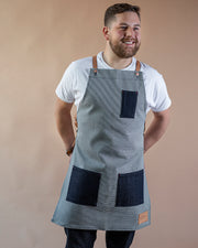 Houndstooth Apron + 3 Pockets