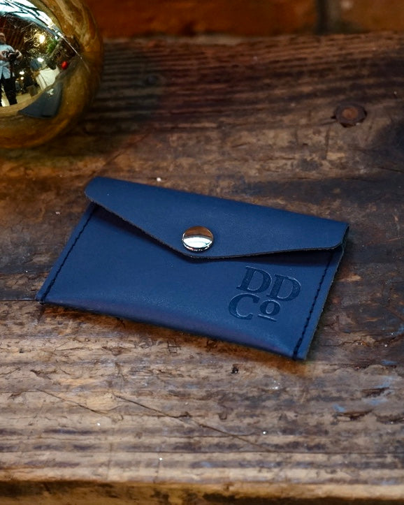 Smooth Leather Snap Pouch
