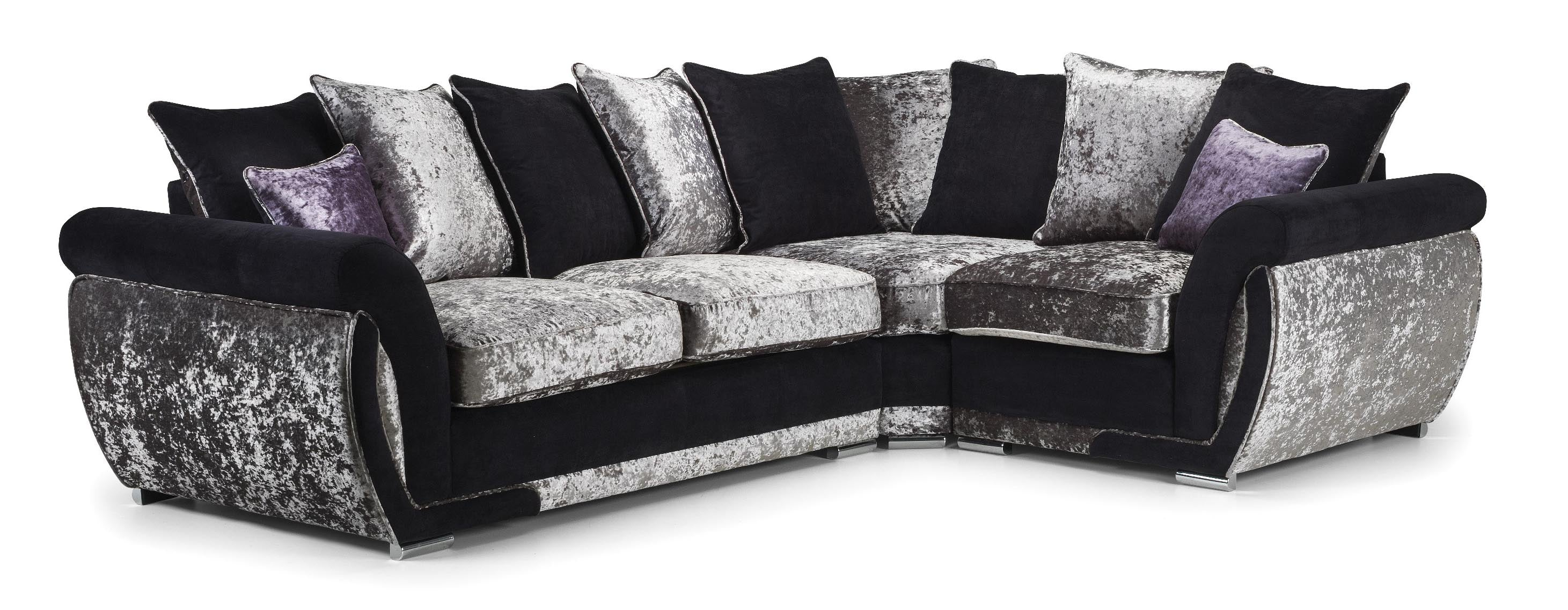 Crushed velvet sofas near Chesterfield