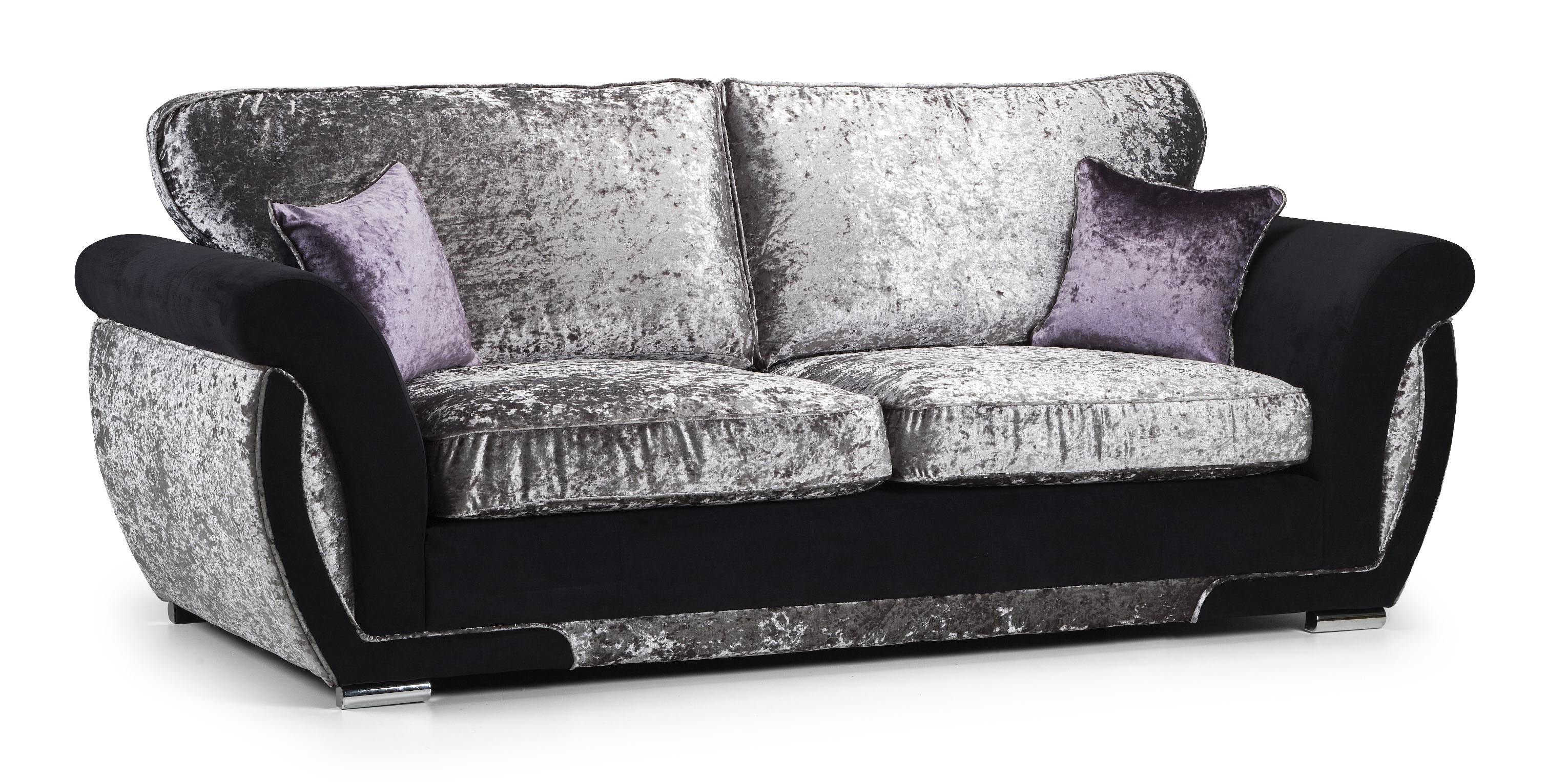 Crushed velvet sofas near Leeds