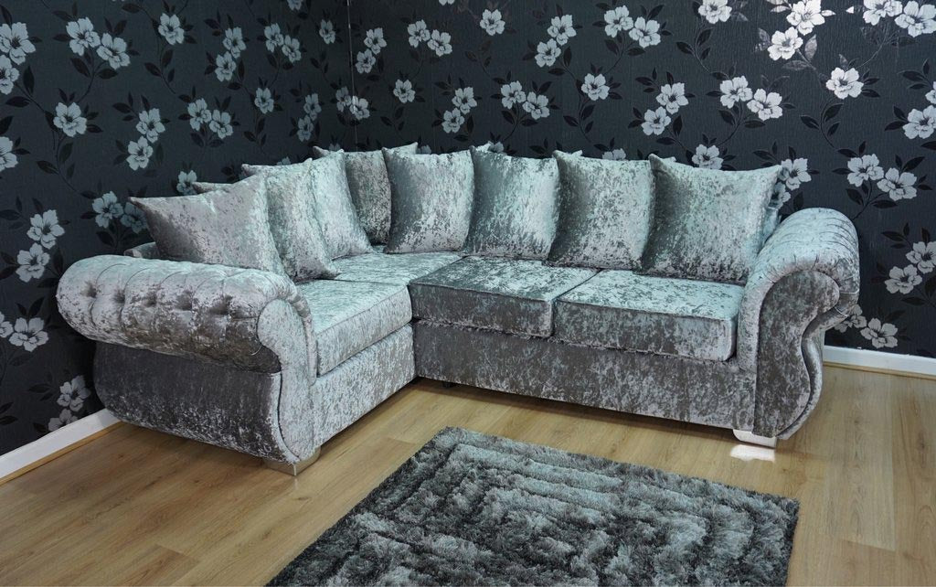Crushed velvet sofas near Retford
