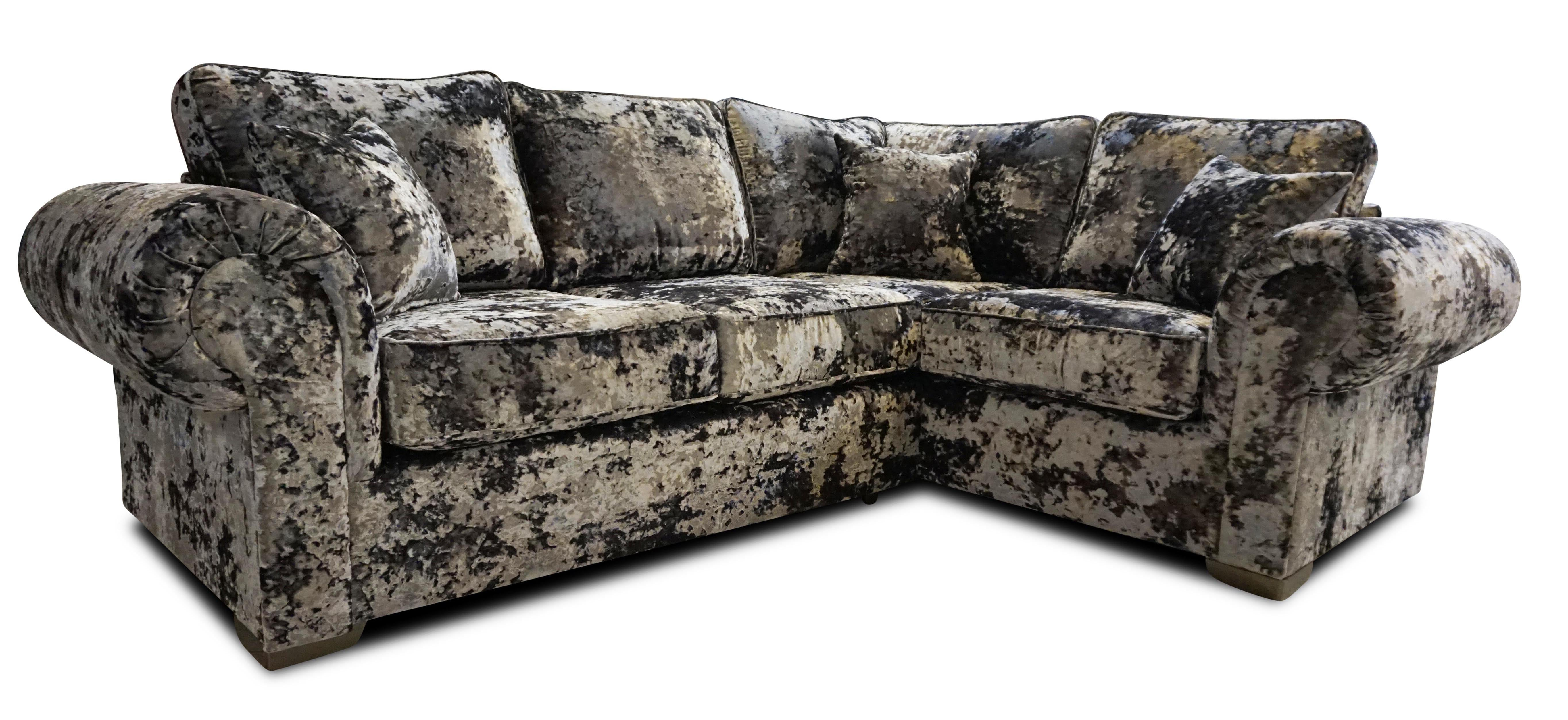 Crushed velvet sofas near Spalding