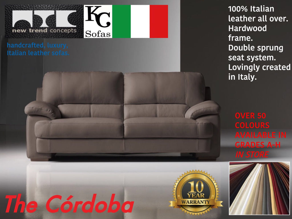 Italian Leather Sofas - Castleford Outlet
