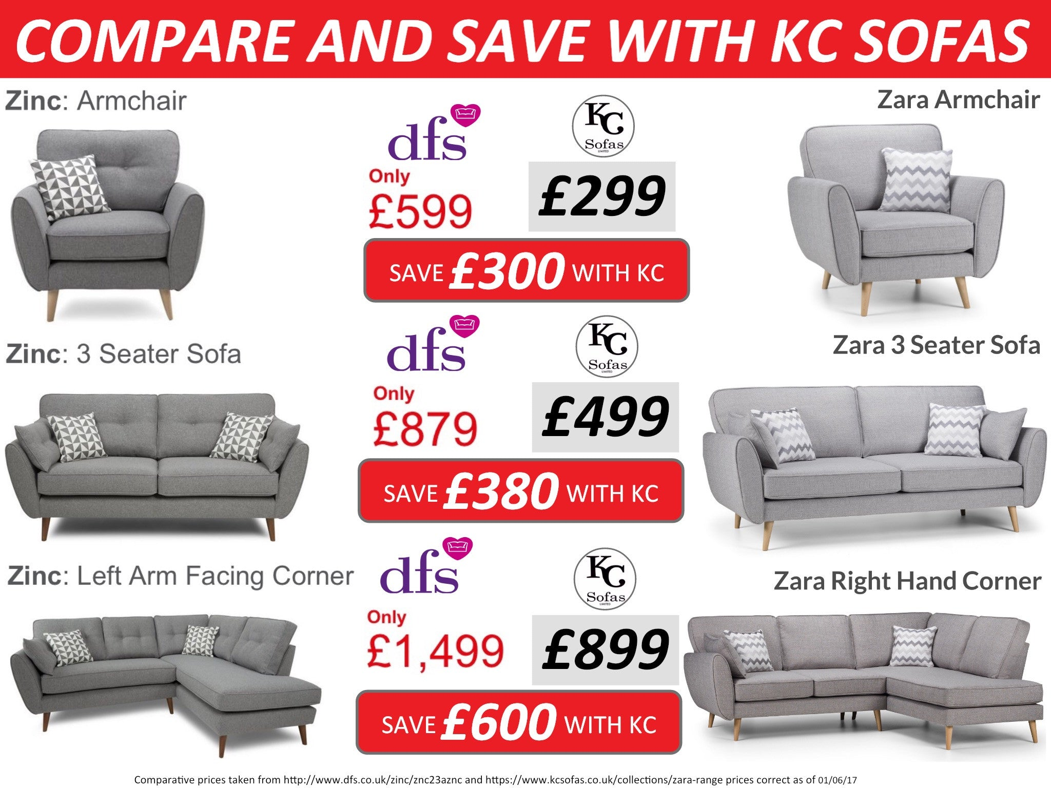 Compare and save! – KC Sofas