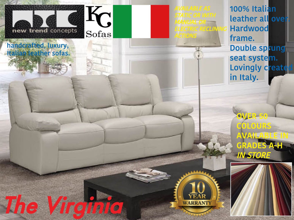 Genuine Italian Leather Sofas in Sheffield