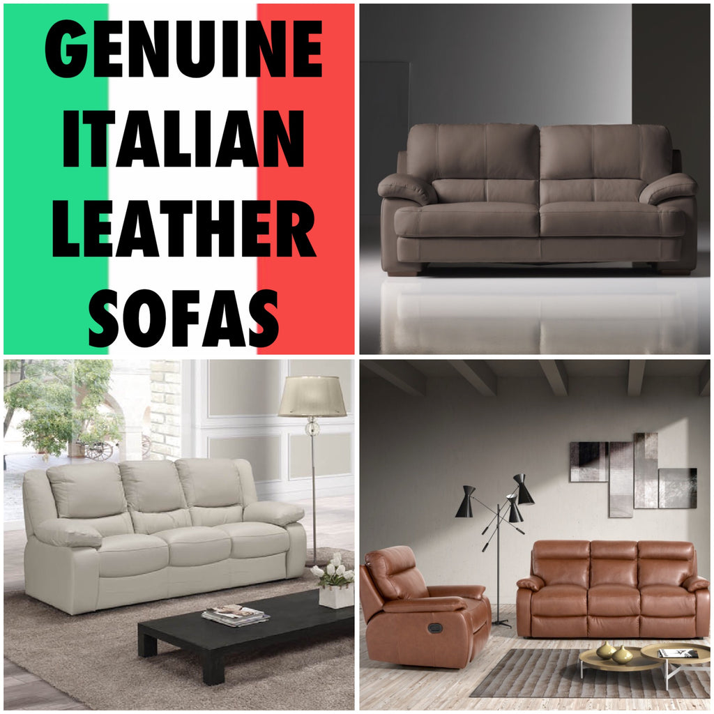 Genune Italian Leather Sofas in Wakefield