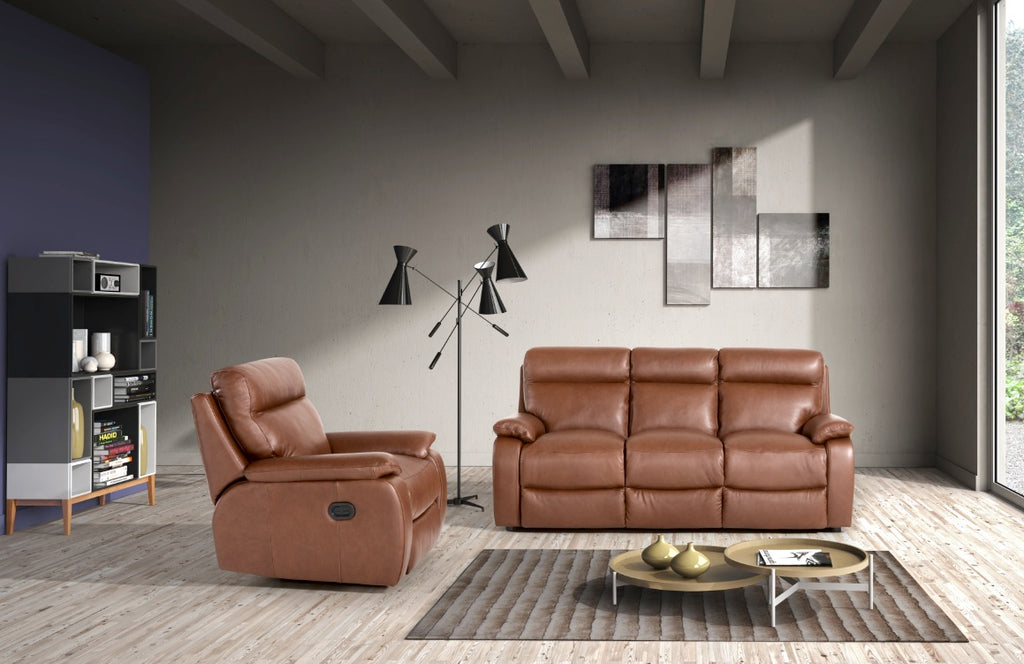 Savannah Italian Leather Sofa
