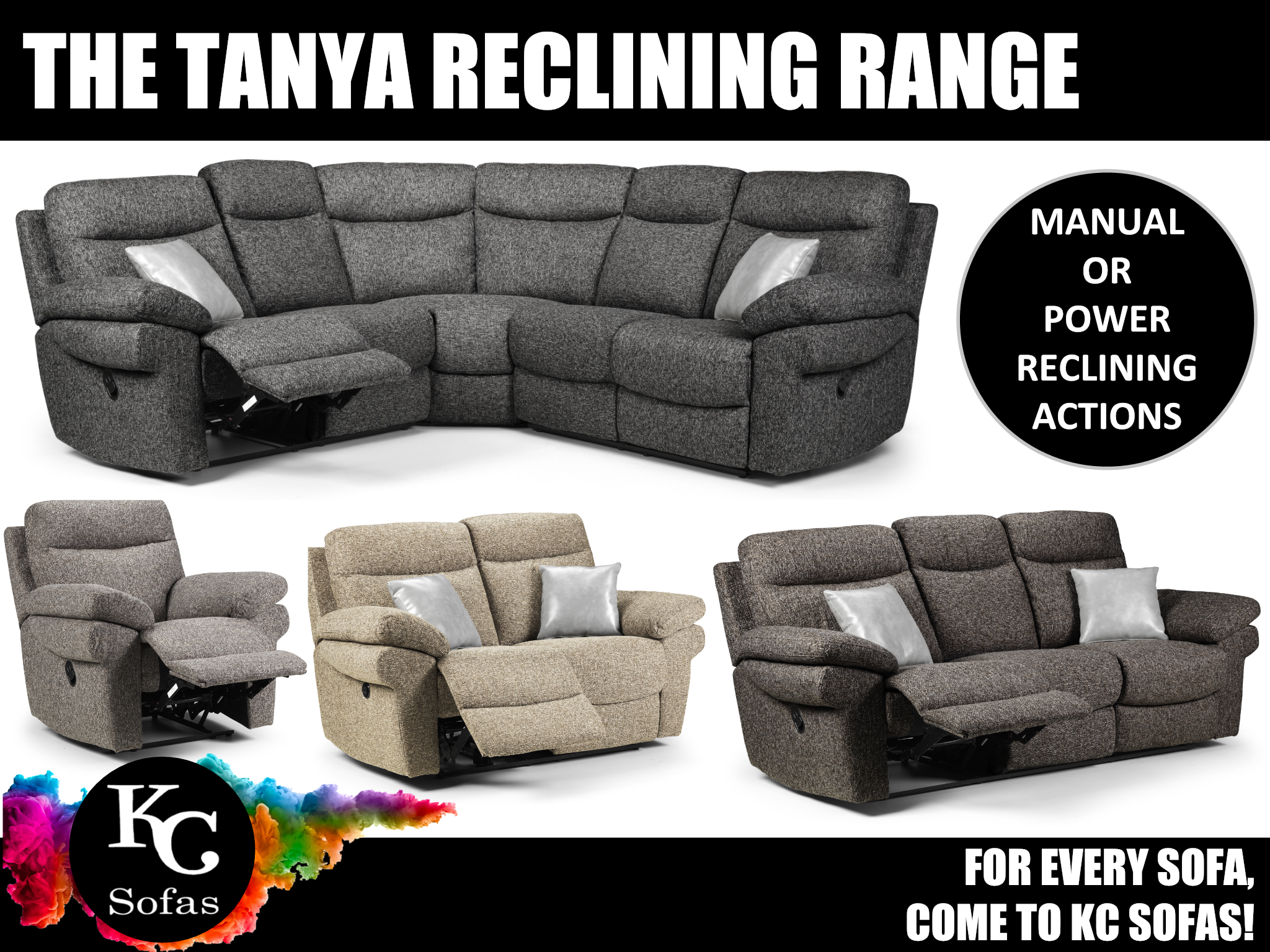 Recliner sofas near Bassingham