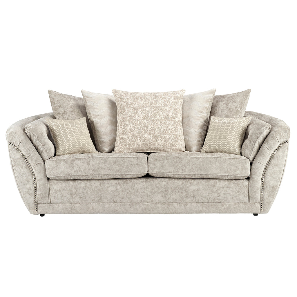 Isabelle 3 Seater Pillow Back Sofa