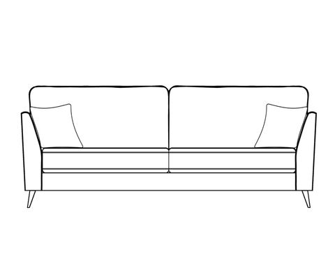 Bennett 2 Seater Formal Back Sofa