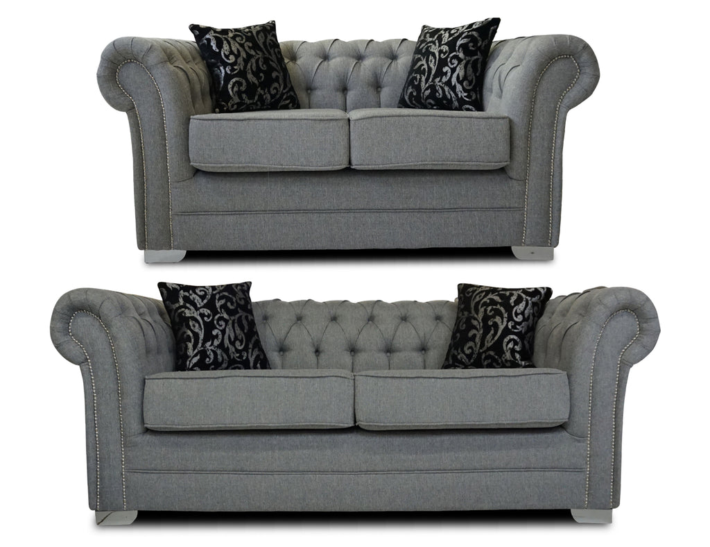 classic chesterfield 3 seater 2 seater sofa set kc sofas. Black Bedroom Furniture Sets. Home Design Ideas