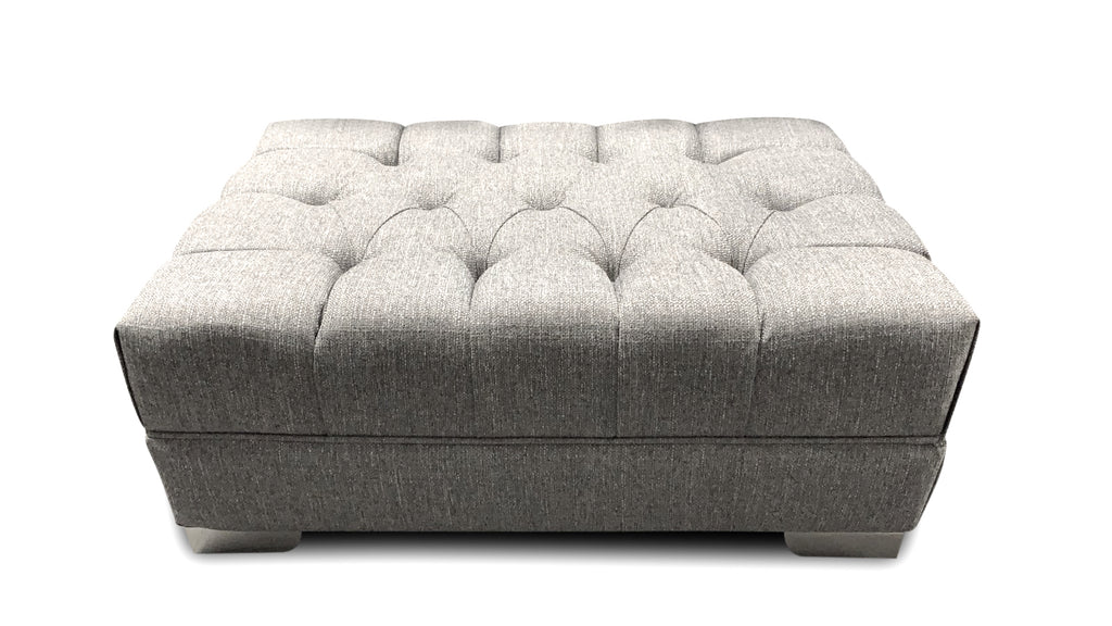 Chelsea Buttoned Footstool Corner Sofas- KC Sofas