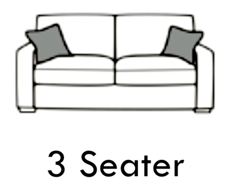 Erika 3 Seater Formal Back Sofa 3 Seater Sofas- KC Sofas