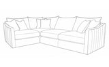 Blaise LH1,CO,RH2 Corner Sofa