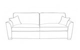 Fantasy 4 Seater Formal Back Modular Sofa