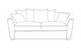 Fantasia 3 Seater Pillow Back Sofa