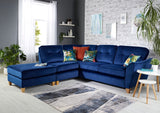Latino Small 1 Arm (Including Footstool) Left Hand Chaise Formal Back Corner Sofa Corner Sofas- KC Sofas