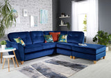 Latino Small 1 Arm (Including Footstool) Right Hand Chaise Formal Back Corner Sofa Corner Sofas- KC Sofas